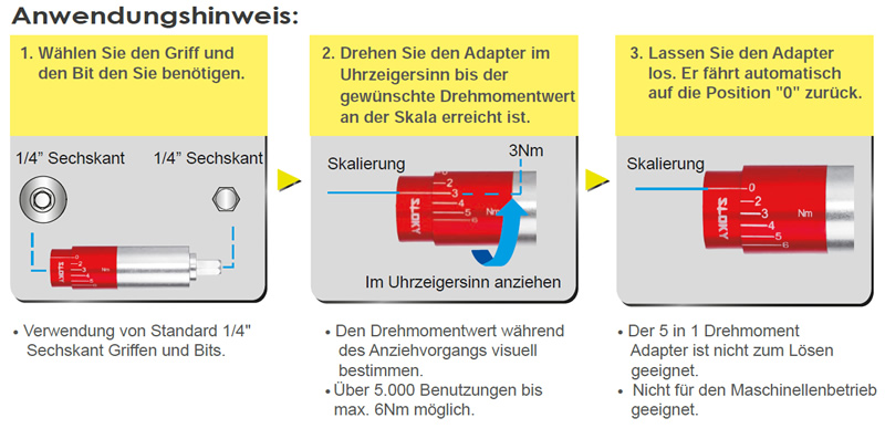 Sloky 5in1 Adapter Hinweis